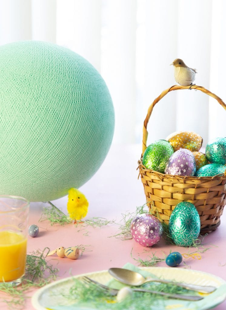 Easter Styling Cotton Ball Lights