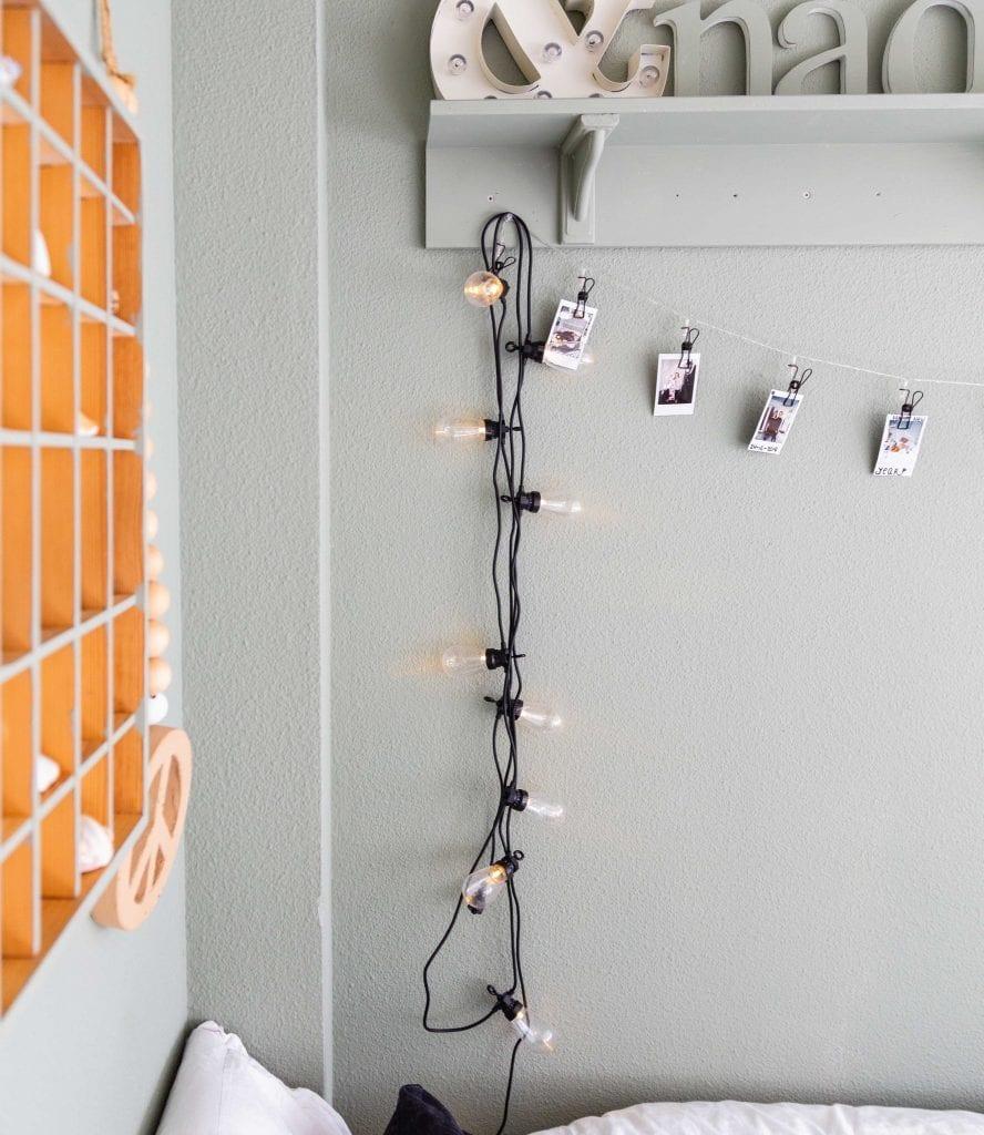 Patio Light String in interior of @noordenzoet