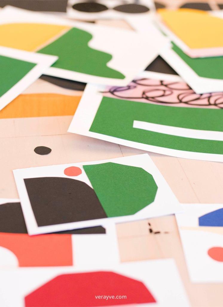 Kleurrijke knipsels van Studio Carlijn Timmermans gefotografeerd tijdens de personal branding fotoshoot