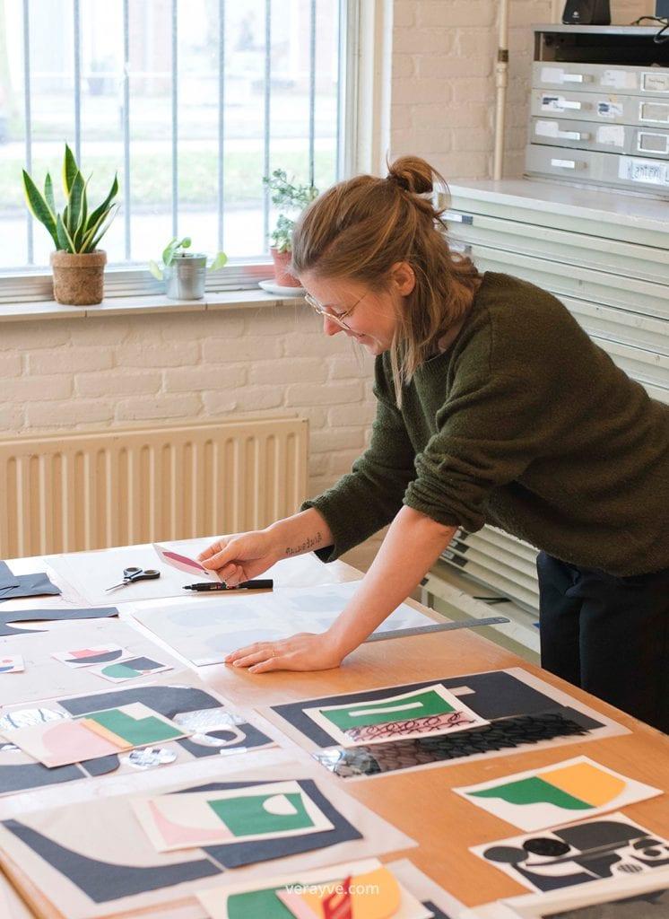 Portret Studio Carlijn Timmermans gefotografeerd tijdens de personal branding shoot