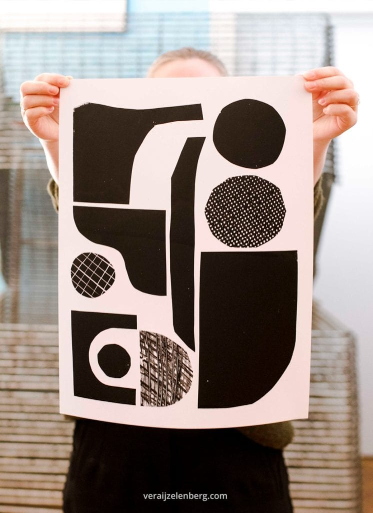 Zeefdruk prints van Studio Carlijn Timmermans gefotografeerd tijdens de personal branding shoot